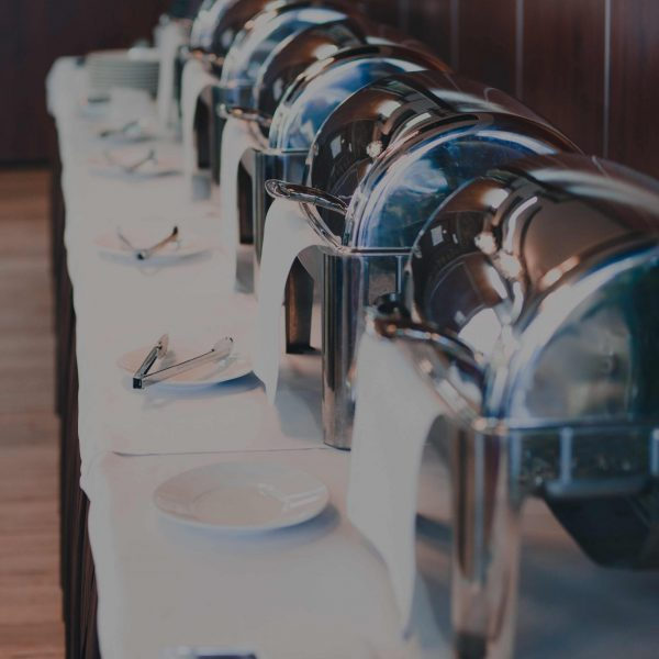 restaurant-buffet-lunch-with-chafing-dishes-food-w-D5YUJEP